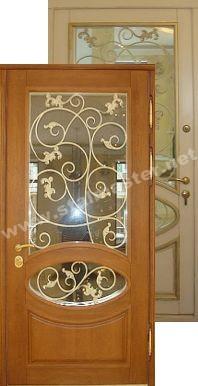 дорогие двери входные с ковкой