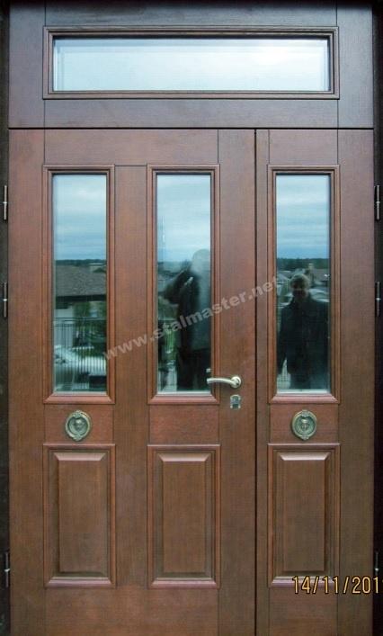 парадные двустворчатые металлические входные двери распашные