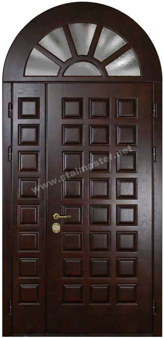 двери металлические двухстворчатые арочные