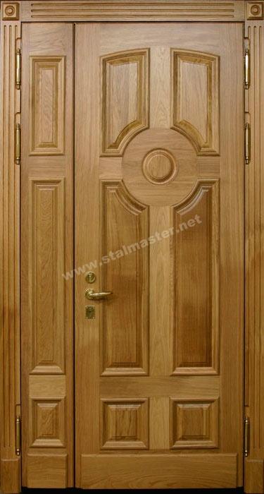 двери металлические двустворчатые филенчатые