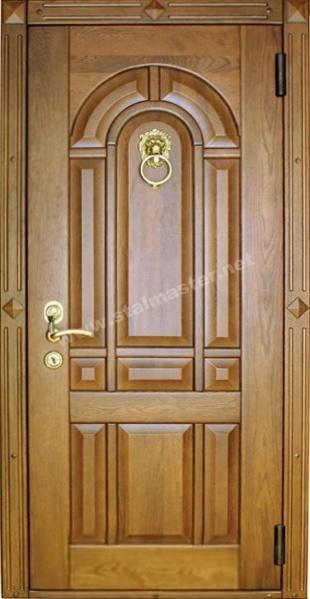 входные двери с накладкой из дерева