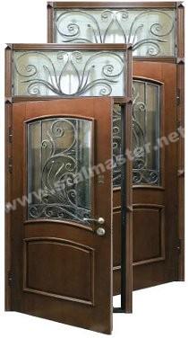 стальные двери со стеклом в сергиев посаде