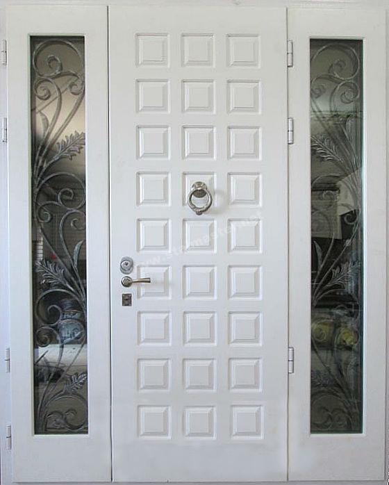входная дверь со стеклом белая для дома цена