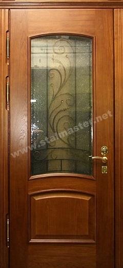 двери металлические со стеклом и ковкой пушкин