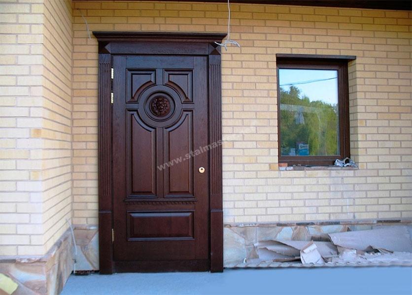 входные двери из массива дуба производство